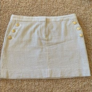 Nautical stripe skirt with gold buttons size 8